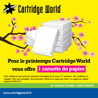 Offre printemps ramette papier Cartridge World Saintes
