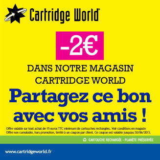 Coupon de rduction Cartridge World Saintes